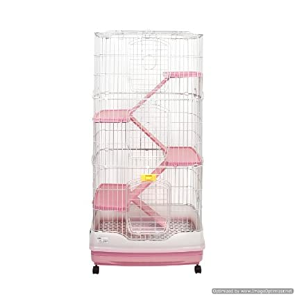 Leonardo 2 Chinchilla Ferret Rat Cage Pink