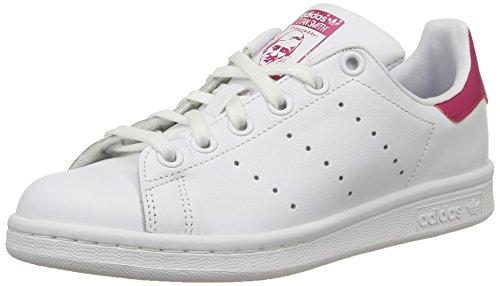 adidas Stan Smith J - Zapatillas para niño Blanco (Ftwr White/ftwr White/bold Pink)