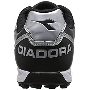 Diadora Men's Capitano Turf Soccer Shoes, Black/White 12.5 D(M) US