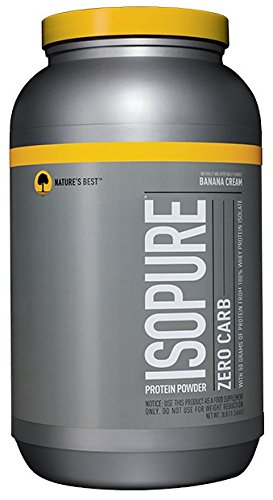 Isopure Zero Carb Protein Powder, 100% Whey Protein Isolate, Flavor: Banana Cream, 3 Pounds (Packaging May Vary)