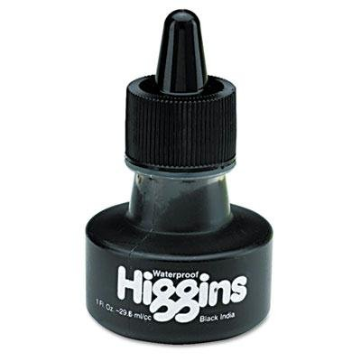 8 Pack - Higgins Waterproof India Ink For Art/Technical Pens Black 1 Oz Bottle ''Product Category: Writing & Correction Supplies/Pens & Refills'' by Original Equipment Manufacture (Image #1)