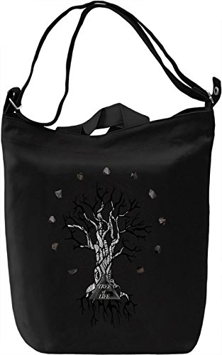 Tree of life Borsa Giornaliera Canvas Canvas Day Bag| 100% Premium Cotton Canvas| DTG Printing|