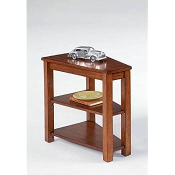 Amazon Com Birch Veneer V Shaped Wedge Chairside Accent
