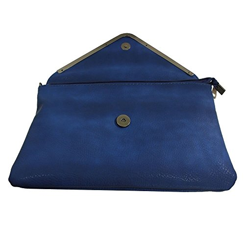 Shopping-et-Mode - Cartera de mano para mujer Azul azul marino