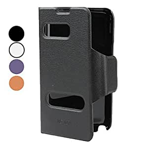 hao PU Leather Case with Stand for Samsung Galaxy Note 2 N7100 (Assorted Colors) , Black