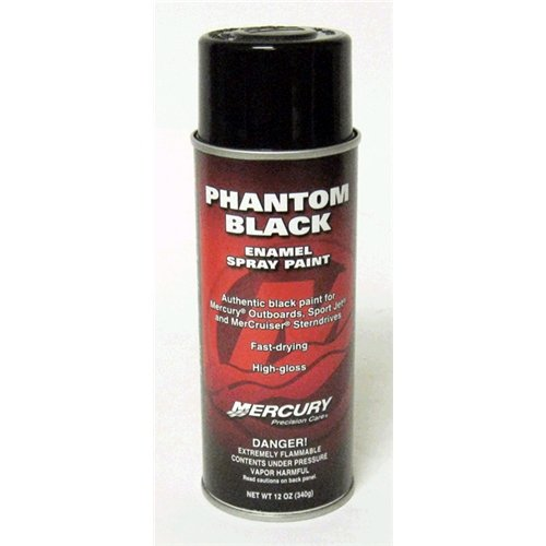 OEM Mercury Marine Outboard Precision Phantom Black Spray Paint 92-802878 1