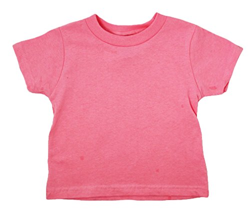 Rabbit Skins Toddler Short-Sleeve T-Shirt (M-3301) Tee Available in 31 Colors,4T,Flamingo