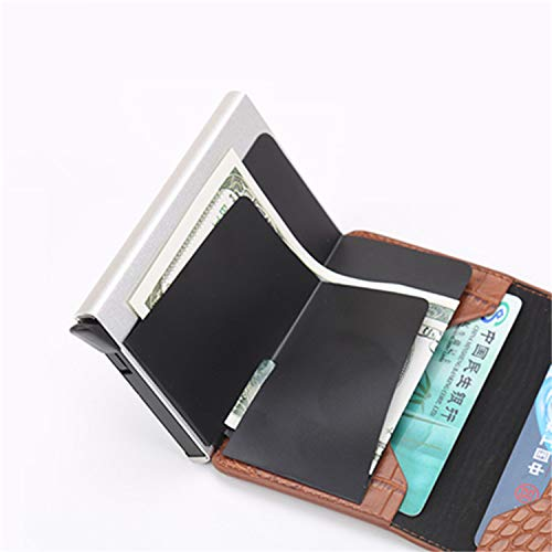 Clearance 2019 New Aluminum Wallet Credit Card Holder Metal with RFID Blocking Slim Carbon Fiber Card ID Wallet by Francis4 (Image #3)