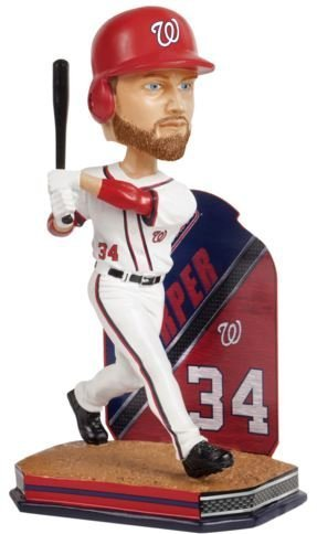 FOCO Washington Nationals Harper B. #34 Name And Number Bobble by FOCO