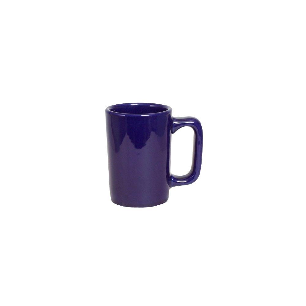 Tuxton BCM-1007 Vitrified China Texan Mug, 10 oz, Cobalt (Pack of 24), Oven-Microwave-Pressure Cooker Safe; Freezer to Oven Safe