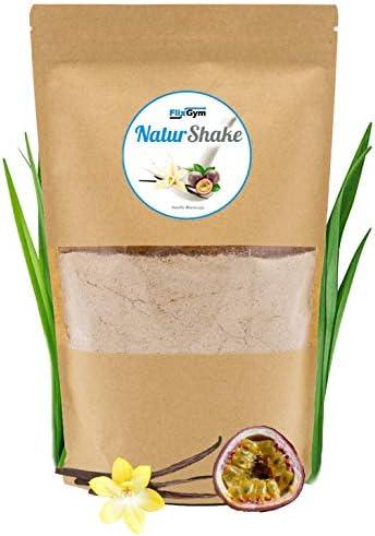 FlixGym NaturShake | Pflanzlicher & vollwertiger Mahlzeitenersatz Shake | natürlich & gesund | Energie, Konzentration & Leistungsfähigkeit | 100% Geschmack | Trinknahrung | 500g (Vanille-Maracuja)