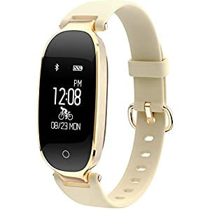 Fitness-Trackers-Elegant-Lady-Pedometer-Calorie-Counter-Heart-Rate-Music-Remote-Camera-IP67-Waterproof-Bluetooth-Tracker