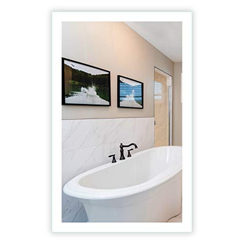 LED Side-Lighted Bathroom Vanity Mirror: 28