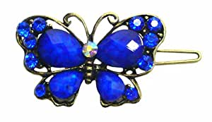Holiday Deal 50% off Crystal Butterfly Barrette LPW86250-3blue