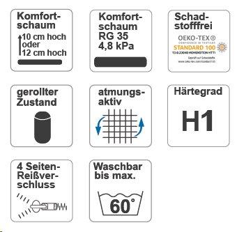 Kindermatratze /& Jugendmatratze Höhe 14 cm MSS® Junior Duo