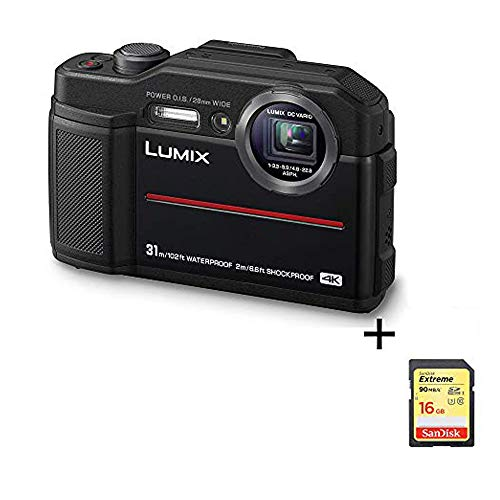 Panasonic Lumix Waterproof Digital Camera – This TS7 Tough Wi-Fi Camera with 3 Inch LCD, 20.4 Megapixels, 4.6X Zoom Lens – Black – DC-TS7K (Renewed)