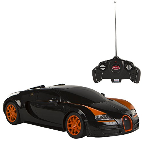 Rastar-Coche-teledirigido-118-Bugatti-Veyron-Gran-Sport-negro-Colorbaby-75894