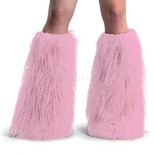 Baby Pink - Adult STD- Faux Fur Boot (Pink Furry Costumes)