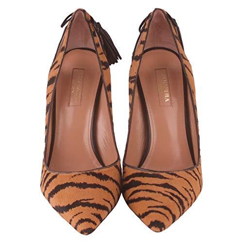 Gamuza Fomhigp0cav106tiger Aquazzura Altos Marrón Mujer Zapatos qqFTwf