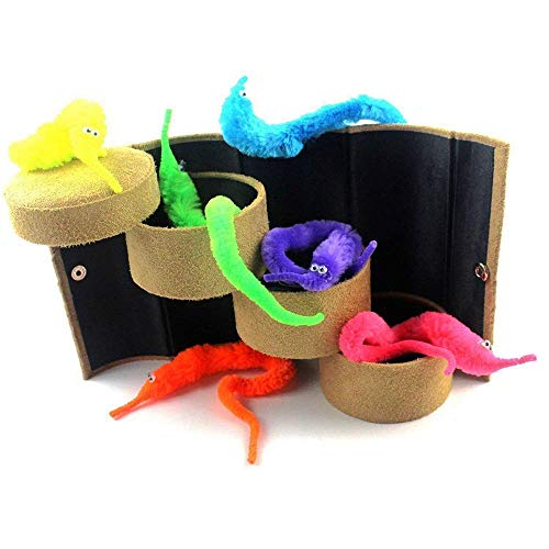 - Codall 12pcs Magic Worm Toys Wiggly Twisty Fuzzy Carnival Party Favors(Random Color)