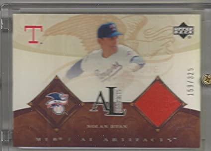 competitive price 7d2e7 fd596 Amazon.com: 2005 UD Artifacts Baseball Nolan Ryan Game Worn ...