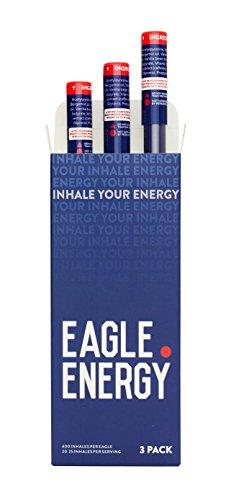 Eagle Energy Caffeine Infused Inhaler, Sugar-Free Energy Drink Alternative, 3 Pack