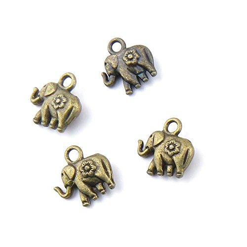 30 pieces Anti-Brass Fashion Jewelry Making Charms 1424 Baby elephant Wholesale Supplies Pendant Craft DIY Vintage Alloys Necklace Bulk Supply (Brass Elephant Charm)