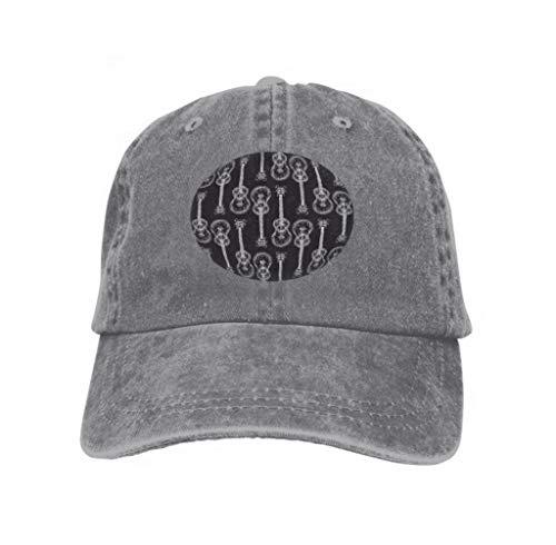 Baseball Caps Cowboy Hats Sun Hats Black White Acoustic Guitar White Contours Black Black White Gray