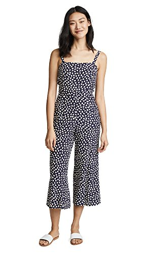 Faithfull The Brand Women's Playa Jumpsuit, Navy Vintage Bloom, Small by Faithfull
