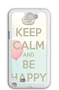"Mldierom ""Fashion?Case"" Lace Pattern Hard Shell Case for Galaxy Note 2 White KEEP CALM AND HAKUNA MATATA 1"