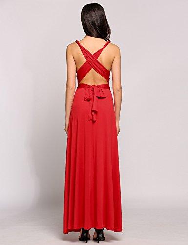 ZEARO Abendkleid Damen Kleider Abendkleid elegant Vintag Kleider ...