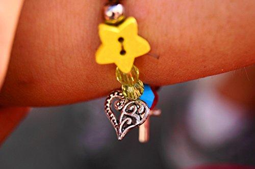 36 Bracelets Friendship (Laminated Poster Jewelry Love Children Friendship Bracelet Heart Poster Print 24 x 36)