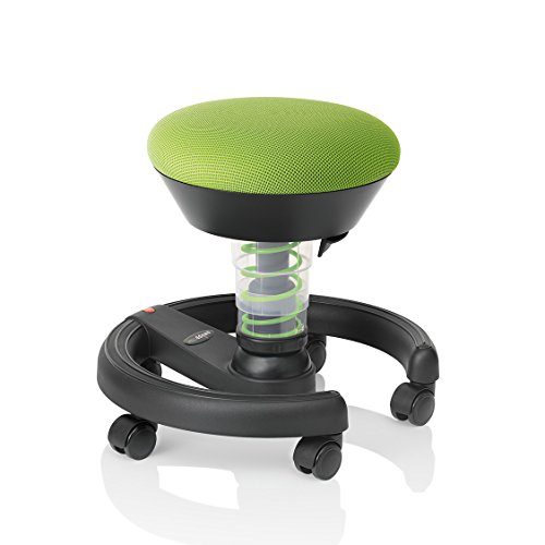 Aeris Swoppster Kids Active Seating Desk Chair - Children's Ergonomic Adjustable Height Bounce Chair for Balance and Movement (Lime Green)