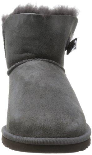 UGG UGG W Mini Bailey Button Bling Damen Kurzschaft Schlupfstiefel Grau (Grey)