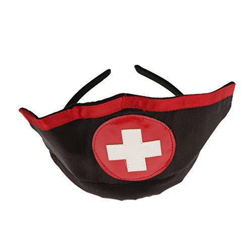 Traje Cosplay Noche de Prettyia negro de de Bachelorette rojo Fiesta P Disfraces Halloween Enfermera de fAgBTqnw