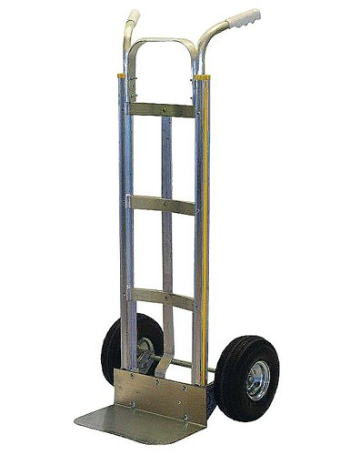Milwaukee Hand Trucks 45122 Modular Aluminum Dual Handle Truck with 10-Inch Pneumatic ()