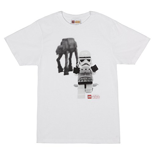 c02a4ba83 Star Wars Lego Storm Trooper with AT-AT Walker T-Shirt - White (XX-Large) -  Buy Online in UAE.