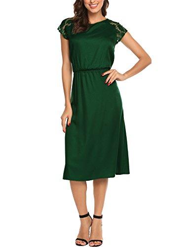 SE MIU Women's Adjustable Slip Dress Spaghetti Strap Long Maxi (Miu Miu Green)