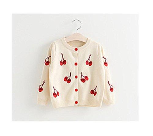0a21bef6f0be1 Candykids女児 女の子 子供服 長袖 ニットセーター ニット ウェア シャツ トップ セーター カーデ 春秋 可愛い