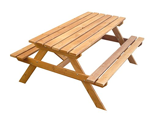 Tierra Garden G19065 Wooden Picnic Table Bench by Tierra Garden