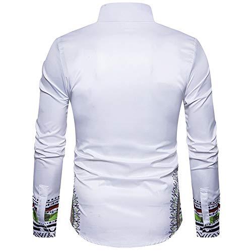T Style Aimee7 Tee Chemise Cher Homme Pour Slim Top Classique Imprimé Longues Fit Hommes Vetement Blanc À Printemps Pas Shirt Manches Africain Cadeau Vintage Z074r0qwx