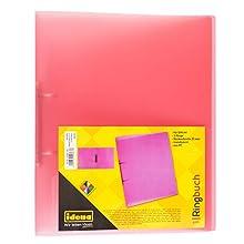 Idena 224367–Archivador (A4, 2anillas, polipropileno, color rosa translúcido