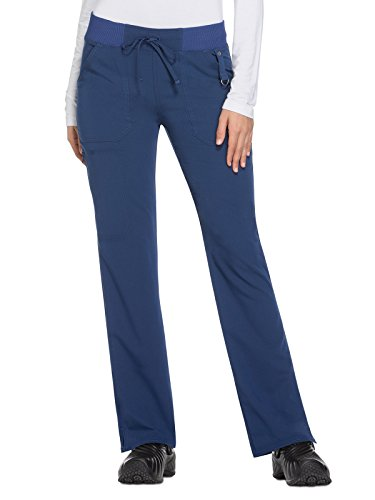 Wide Leg Dickies (Dickies Xtreme Stretch Women's Drawstring Straight Leg Scrub Pant X-Large Petite Navy)