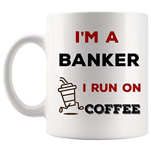 Energy Fuel Run on Coffee Banker Mug Best Coffee Cup Gift Morning People | Best Personal Investment Retired Funny Gift World Mom Dad Future Retirement