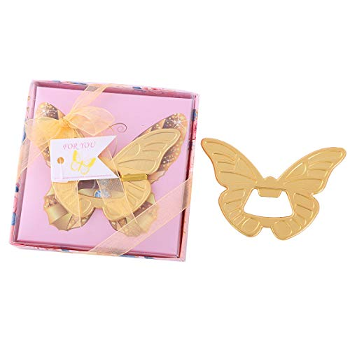 12 pcs Butterfly Bottle Opener Wedding Favors and Gifts with Exquisite packaging Box Wedding Gifts For Guests Wedding Baby Shower Souvenirs Party Supplies by -
