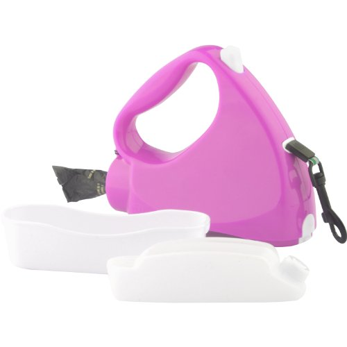 Water Walker 4-in-1 Retractable Dog Leash, (10' Medium Bowl)