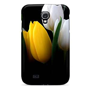 Fashion KNm16515pQfI Case Cover For Galaxy S4(nature Flowers Colorful Tulips 033704)