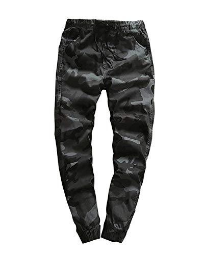 Esterno 88 Autunno Dunkelgrau Mimetici Coulisse Pantaloni Da Allenamento Primavera Chino Bobo Con Uomo Passeggio 14wSq