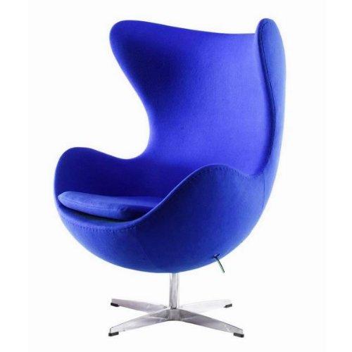 BCT uka073b- Silla de Huevo Estilo Lujoso Arne Jacobsen Azul ...