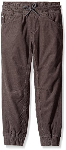 Gymboree Little Boys' Gray Fine Wale Cord Jogger, Asphalt Gray, 7